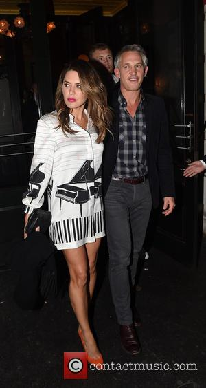 Gary Lineker, Danielle Bux and Danielle Lineker - Celebrities leaving Balthazar Restaurant in Covent Garden before heading to Groucho Club...