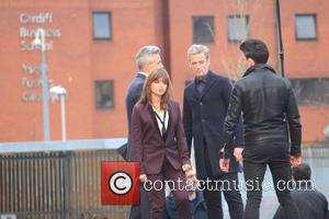 Peter Capaldi Jenna Louise Coleman Jonathan Bailey - Joining the Timelord and his assistant (Capaldi and Coleman) shooting scenes was...