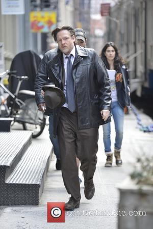 Ben Mckenzie and Donal Logue - Ben Mckenzie and  Donal Logue on the set of Gotham - Manhattan, New...