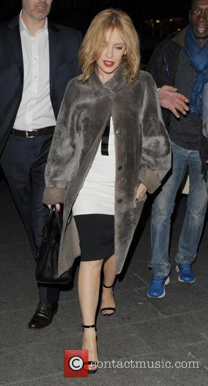 Kylie Minogue - Kylie Minogue at Gare du Nord station in Paris - Paris, France - Thursday 20th March 2014