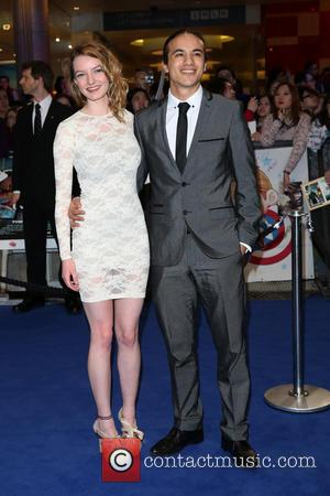 Dakota Blue Richards and guest - Captain America: The Winter Soldier - UK film premiere held at Westfield - Arrivals...
