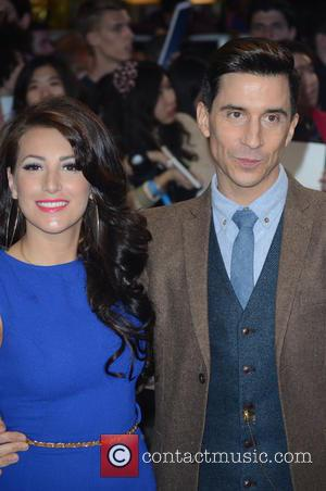 RUSSELL KANE and GUEST - 'Captain America: The Winter Soldier' UK Premiere at Westfield - Arrivals - London, United Kingdom...
