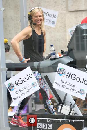 Jo Whiley - Jo Whiley running a 26 hour treadmill marathon for Sport Relief - London, United Kingdom - Thursday...
