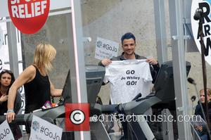 Peter Andre and Jo Whiley
