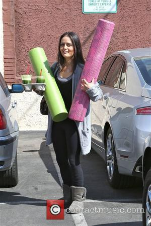 Danica McKellar - Danica McKellar has her hands full as she arrives to a rehearsal studio for 'Dancing With the...