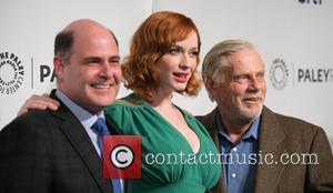 Matthew Weiner, Christina Hendricks and Robert Morse