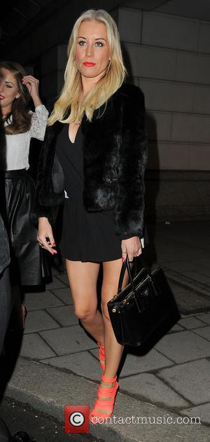 Denise Van Outen - Denise Van Outen, Lydia Bright and Zoe Hardman leave The Mango Tree restaurant and catch a...