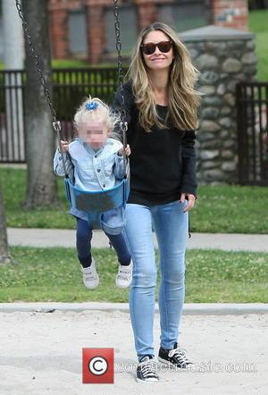Rebecca Gayheart and Georgia Dane - Rebecca Gayheart spends some quality time with her children at a park in Beverly...