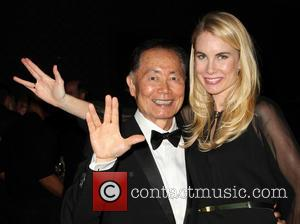 George Takei and Elspeth Keller - Human Rights Campaign Los Angeles Gala Dinner - Inside - Los Angeles, California, United...