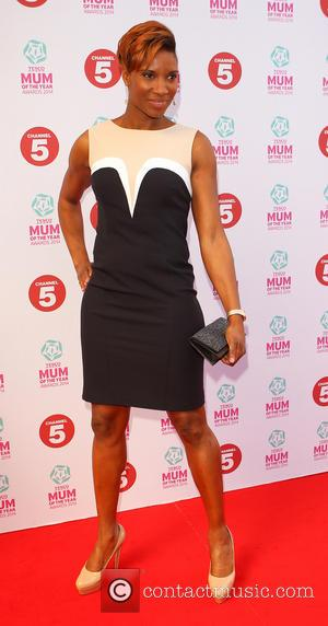 Denise Lewis - Tesco Mum of the Year Award, red carpet arrivals at The Savoy in London - London, United...