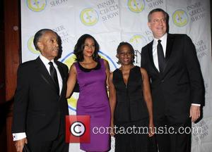 Al Sharpton, Mayor De Blasio Chirlane Mc Cray and Al Sharptons gal pal - the New York Press makes fun...