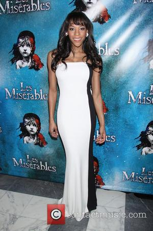 Nikki M. James wearing Marc Bouwer - Opening Night After Party for Broadway's Les Miserables at the Imperial Theatre -...