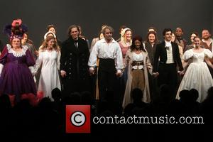 Settle, Caissie Levy, Will Swenson, Ramin Karimloo, Nikki M. James, Andy Mientus, Samantha Hill and Les Miserables