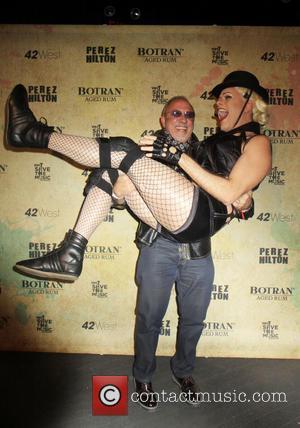 Perez Hilton and Emilio Estafan - Perez Hilton hosts a Madonna themed party to celebrate his 36th Birthday - New...