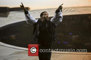 Drake - Drake performing live on stage on his 'Nothing Was the Same' 2014 World Tour the O2 Arena -...