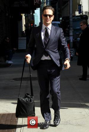 Josh Charles - Celebrities outside the Ed Sullivan Theater as they arrive for their taping on the Late Show with...