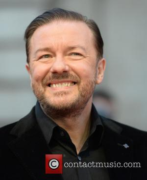 Ricky Gervais - 'Muppets Most Wanted' U.K. premiere at Curzon Mayfair - Arrivals - London, Ukraine - Monday 24th March...
