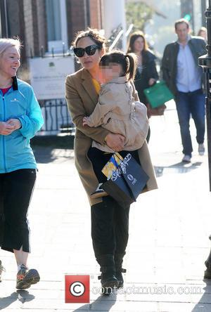 Myleene Klass and Hero Quinn - Myleene Klass and daughter Hero out and about in north London - London, United...