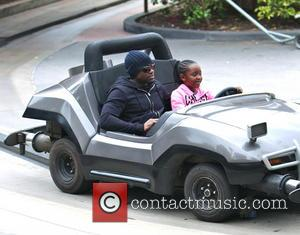 Omar Epps and K'mari Mae Epps - EXCLUSIVE 'Resurrection's Omar Epps spends quality time with his daughter K'mari at Disneyland....