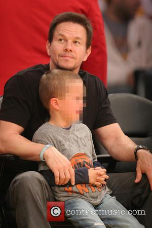Mark Wahlberg, Brendan Joseph Wahlberg and Michael Robert Wahlberg - Celebrities at the Lakers game. The Los Angeles Lakers defeated...