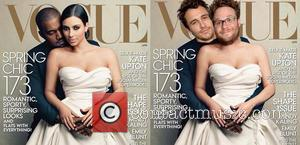James Franco, Seth Rogen, Kanye West, Kim Kardashian and Vogue