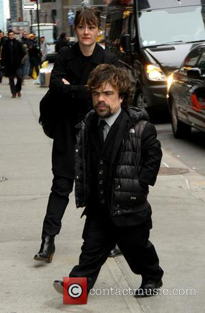 Peter Dinklage - Celebrities outside the Ed Sullivan Theater as they arrive for the Late Show with David Letterman -...