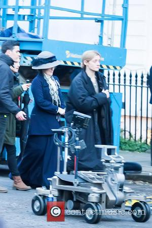 Meryl Streep - Actresses on the set of 'Suffragette' shooting on location in London - London, United Kingdom - Tuesday...