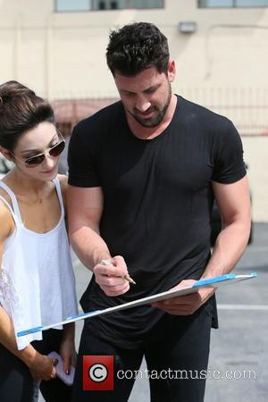 Meryl Davis and Maksim Chmerkovskiy - Meryl Davis seen at dance rehearsals for television show Dancing with the Stars, when...