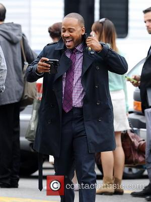 Columbus Short - 'Scandal' star Columbus Short spotted on set in downtown Los Angeles for the first time yesterday (25Mar14)...