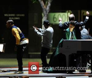 Alicia Keys, Pharrell Williams and Kendrick Lamar
