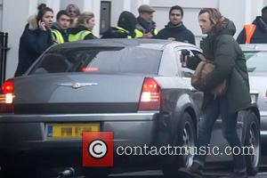 Ewan McGregor - Ewan McGregor is nearly run over by his driver on the set of 'Our Kind of Traitor'...