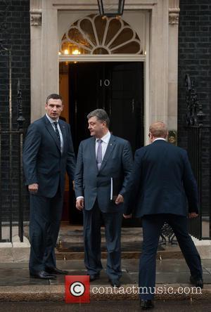 Vitali Klitschko, Petro Poroshenko and Andriy Shevchenko