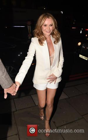 Amanda Holden - 'I Can't Sing' opening night afterparty held at One Marylebone - Arrivals - London, United Kingdom -...