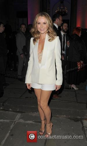 Amanda Holden - 'I Can't Sing' opening night afterparty held at One Marylebone - Departures - London, United Kingdom -...