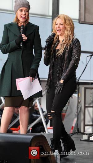 Savannah Guthrie and Shakira - Shakira peforms live on 'Today' as part of NBC's Toyota Concert Series - New York...
