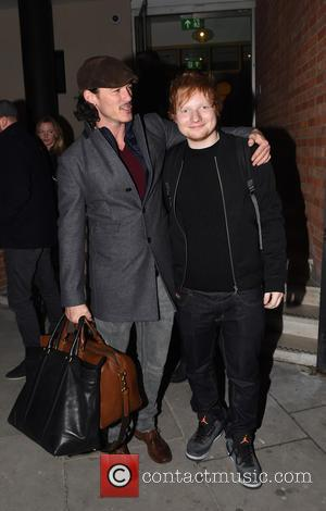 Ed Sheeran and Luke Evans