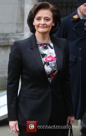 Cherie Blair - The funeral of Anthony Benn, 2nd Viscount Stansgate, at St. Margaret's Church in central London - London,...