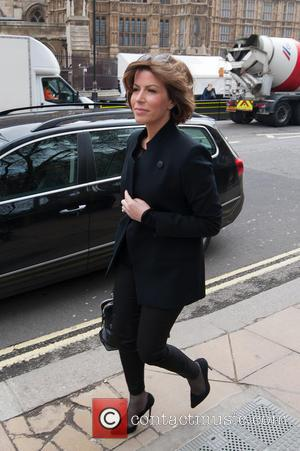 Natasha Kaplinsky - Former Labour MP Tony Benn's Funeral held at St. Margaret's Church, Westminster. - London, United Kingdom -...