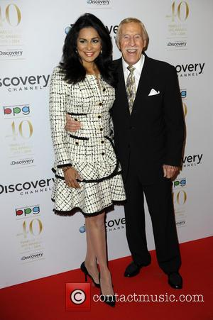 Sir Bruce Forsyth and Wilnelia Forsyth - Broadcasting Press Guild Awards held at the Theatre Royal - Arrivals - London,...
