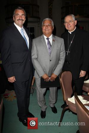 Los Angeles Police Chief Charlie Beck, Paul Chavez and Archbishop José H. Gomez - The Cesar Chavez Foundation's 2014 Legacy...