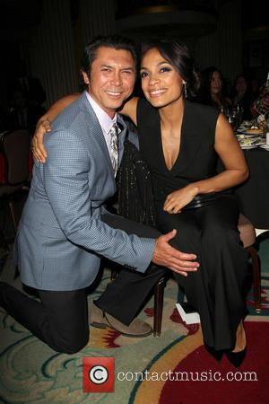 Lou Diamond Phillips and Rosario Dawson - The Cesar Chavez Foundation's 2014 Legacy Awards Dinner_Inside - Los Angeles, California, United...
