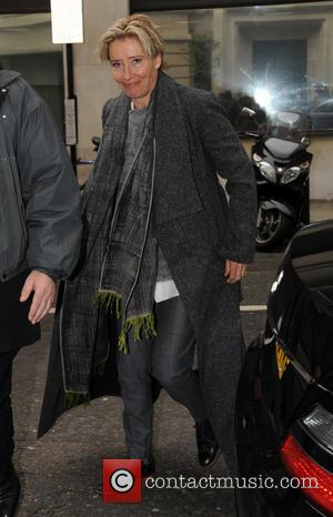 Emma Thompson - Emma Thompson arrives at Radio 2 - London, United Kingdom - Friday 28th March 2014