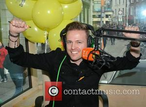 Nicky Byrne - Nicky Byrne and Jenny Greene broadcast live for 2FM from Grafton Street to support the Irish Cancer...