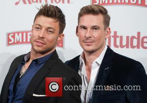 Duncan James and Lee Ryan - Attitude Magazine 20th birthday, love & marriage party held at the Grosvenor House -...