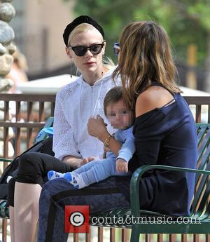 Jessica Alba, James Knight Newman and Jaime King - Jessica Alba heads to the park with her family and runs...