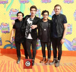 American Authors - Nickelodeon Kids' Choice Awards 2014 held at USC's Galen Center - Los Angeles, California, United States -...