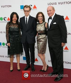 Lilly Tartikoff, Guest, Philippe Vergne and Bruce Karatz