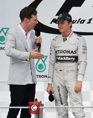 Nico Rosberg and Benedict Cumberbatch