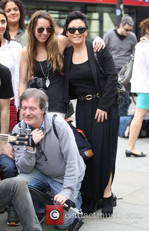 Jessie Wallace - Tim Arnold filming a music video for his forthcoming single 'The Piccadilly Trot' in London's West End....