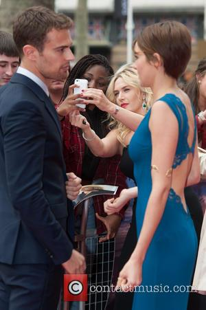 Theo James, Shailene Woodley and Kate Winslet - The European Premiere of 'Divergent' held at the Odeon Leicester Square -...